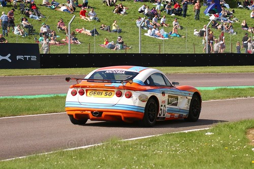 Geri Nicosia in the Ginetta Juniors Race during the BTCC Weekend at Thruxton, May 2016