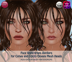 Face Waterdrops Applier Add-On Set (for Catwa and LOGO) (Izzie Button (Izzie's)) Tags: logo waterdrops catwa