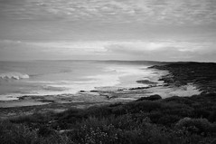 DSC_0333 (sorry if i dont) Tags: sea sky bw digital point nikon rocks surf waves australia ripples blacknwhite vignette jakes kalbarri d90