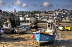 Low tide at St Ives, Cornwall (Baz Richardson (trying to catch up!)) Tags: cornwall fishingboats stives stivesharbour cornishharbours cornishtowns