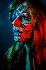 Tallows 8 (Jef Harris) Tags: portrait colorful patterns ottawa makeup muse mua homestudio creativemakeup ottawamodel