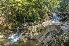 Jungle waterfall, Borneo (tik_tok) Tags: travel sea water forest river landscape outdoors island waterfall nationalpark rainforest asia southeastasia hiking jungle sarawak malaysia borneo gununggading