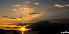 Sonnenuntergang bei Dubrovnik (izoerkler) Tags: red orange reflection yellow meer wasser pentax croatia sigma ricoh dubrovnik mediterraneansea adria reflektion kste kroatien k50 pentaxlens sigma1770 ontdoor