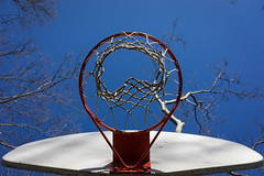 Hoop (Howard_L) Tags: blue sky usa newyork abstract basketball hoop us unitedstates centralpark manhattan places northamerica