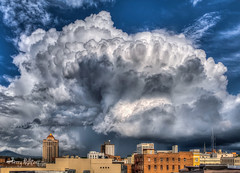 Popcorn Thunderstorm Clouds Roanoke (Terry Aldhizer) Tags: sky building weather clouds spring stormy roanoke terry popcorn thunderstorm shape aldhizer wwwterryaldhizercom