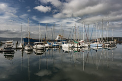 Beauty Point, Tasmania (Steven Penton) Tags: beauty marina reflections point boats australia tasmania yachts