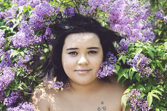 Biz (Jessica Lisbeth) Tags: flowers black girl purple may lilac mayflowers hpfan