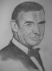 Sean Connery (JeremiahGC) Tags: portrait never pencil james drawing sean again bond say seanconnery 007 connery
