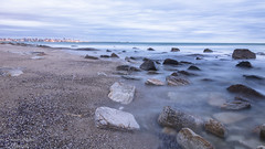 """""""Rocas en el Mar de Seda"""" - """"Rocks in the Sea of Silk"""" (marcos.h_alvarez) Tags: playa rocas largaexposicin longexposition mardeseda"""