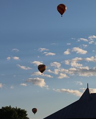 Image8 (thehachland) Tags: sunset sky sunshine clouds fire flames balloon hotairballoons ballstonspa saratogacounty saratogacountyfairgrounds saratogaballoonandcraft