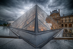 Louvre II (Brenac Photography) Tags: sky storm paris france museum nikon ledefrance louvre overcast musee romantic fr pyramide samyang d810 nikond810 brenac brenacphotography