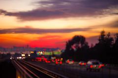 Nothing Gold Can Stay (Thomas Hawk) Tags: california sunset usa oakland unitedstates unitedstatesofamerica bart freeway