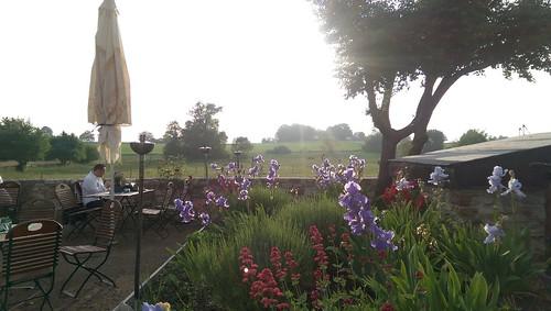 Blick über Terrasse und Selztal