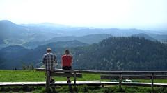 Zuflucht - Oppenauer Steige (sigi-sunshine) Tags: germany deutschland couple break view hiking paar panoramic valley pause aussicht schwarzwald blackforest wandern vistapoint tal ausblick aussichtspunkt badenwrttemberg panoramicview badenwuerttemberg zuflucht mittelgebirge ortenau ortenaukreis oppenau renchtal kniebis talblick nordschwarzwald schwarzwaldhochstrase l92 oberrheinebene oppenauersteige rosbhlsteige