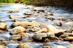 A river runs through it (ReevesWild) Tags: water beauty river landscape rocks lakedistrict riverbed ripples slowshutterspeed lakedistrictnationalpark glenderamackin
