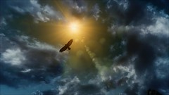 TESV - Flying high (tend2it) Tags: kenb elder scrolls skyrim v rpg game pc ps3 xbox screenshot sweetfx enb bird sky clouds sun flare