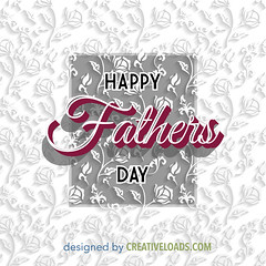 Fathers Day Card (creativeloads.com) Tags: wallpaper white holiday abstract male love nature floral illustration daddy happy person design dad day background father creative happiness celebration card shape greeting vector fathers