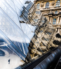 Reflecting on The Louvre (Jo Teasdale) Tags: urban paris france glass architecture buildings photography structure refections thelouvre