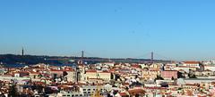 Another view of Lisbon and its swifts (kalakeli) Tags: portugal birds lisbon may bridges mai april impressions lissabon impressionen vgel ponte25deabril brcken 2016 christtheking apusapus commonswift mauersegler lisbonfromabove commonswifts jesusstatuelissabon