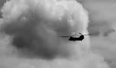 apocalypse now (Danyel B. Photography) Tags: bw white black flying war apocalypse krieg helicopter sw now schwarz heli fliegen helikopter weis endzeit