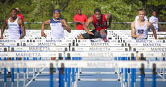 Hurdles (Mark Chandler Photography) Tags: girls color colour sports boys field sport race speed canon ga georgia photography photo athletics track harrison stock teens run highschool event teen 7d marietta athlete region hurdles meet osborne trackandfield highjump relays cobbcounty hillgrove mceachern kennesawmountainhighschool highschooltrack northcobb markchandler mariettahighschool northpaulding 7dmarkii