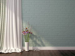 136311689 (tigercop2k3) Tags: architectural architecture background blue brick curtains decoration design detail domestic floor flower hardwood home indoors interior material nobody old parquet room spring stone style textured vase wall white wood