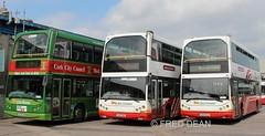 Bus Eireann DD32, DD23 & DD14. (Fred Dean Jnr) Tags: b7tl eastlancs 04c12279 04d2766 02d3444 dd14 dd23 dd32 buseireann volvo capwelldepotcork buseireanncapwelldepot cork june2016 myllenium vyking doubledecker