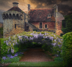 Country Home (Laura Macky) Tags: architecture art castle digitalpainting england fineart impressionism photography potpourri topaz wisteria