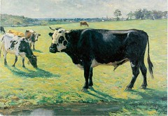 Postcrossing SE-108413 (booboo_babies) Tags: cows painting sweden art