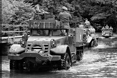 A&E 2016 - The Crossing (zoomerphil) Tags: white ford river soldier army mono track crossing attack half rhine armour normandy dorchester ae halftrack embarkation 2016 wwiiww2