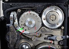 Kalloflex Transport & Counter Mechanism (11) (Hans Kerensky) Tags: kowa kalloflex transport stop counter mechanism gears working function overview problem repaired