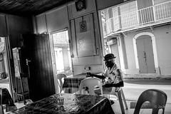 rhum (Jack_from_Paris) Tags: l1005211bw leica m type 240 10770 leicaelmaritm28mmf28asph 11606 dng mode lightroom capture nx2 lr monochrom noiretblanc street guadeloupe gwada sun soleil le moule rue bar antilles antillais rhum verre glass chapeau ambiance franaises mail