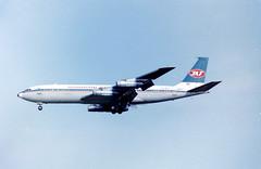 A1213E YU-AGJ B707-351C JAT GLA 29Jun86 (fergusabraham) Tags: yuagj b707 jat yugoslavairlines gla boeing707 glasgowinternational