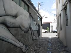 P1000644 (Mud Boy) Tags: melbourne australia victoria melbournevictoriascoastalcapitalisacityofstately19thcenturybuildingsandtreelinedboulevards streetart graffiti collingwood wolf