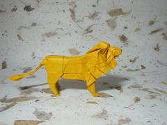 Lion - Satoshi Kamiya (rob.tad) Tags: animal paper origami foil tissue lion seda papiroflexia folding leo satoshi dobradura kamiya
