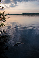 ripples (david_sharo) Tags: sunset lake clouds landscape moraine waterscape davidsharo