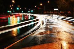 Rainy days and ghost cars. 171/366 (jenniferdudley) Tags: longexposure nightphotography trafficlights cars night nikon nightlights traffic nighttime streaks nikond5 day171366 mynikonlife 366the2016edition 3662016 19jun16