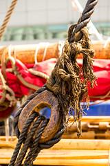 Drakkar (POStaes) Tags: sea canon eos quebec harbour ropes viking draken harald vieuxport t3i drakkar 600d hrfagre
