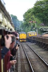 37716 Severn Valley Railway Diesel Gala (Paul Emma) Tags: uk railroad england train shropshire railway svr severnvalleyrailway kidderminster bewdley preservedrailway highley class37 dieseltrain heritagerailway 37716 dieselgala