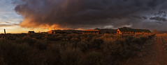 Taos, New Mexico ([ raymond ]) Tags: sunset sky panorama cloud storm newmexico southwest pano awesome dramatic wideangle panoramic taos americansouthwest img7862pano