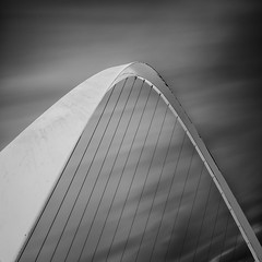 Millenium v1 (mg photography2) Tags: city uk travel bridge england urban art tourism monochrome architecture clouds canon newcastle mono europe long exposure fineart fine millenium tyne architectural northumberland upon