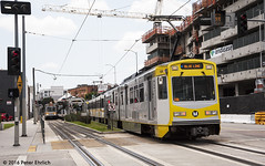 LOS ANGELES--104 appr Pico Station OB (milantram) Tags: losangeles blueline lightrail trams trolleys streetcars lacmta electricrailtransport railsystemslosangeles