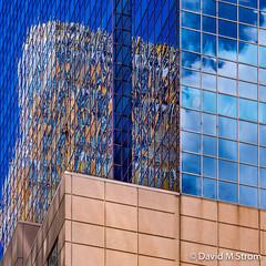 Minneapolis Windows (David M Strom) Tags: lines skyscraper olympusomdem5 minneapolis abstract architecture davidstrom reflections wellsfargobuilding