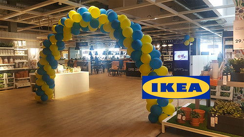 ballonboog 7m Opening Restaurant Ikea Delft