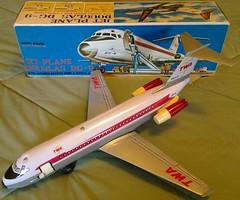NOMURA (Copy) DC9 (NyamalaTone) Tags: vintage airplane toy tin collectible flugzeug jouet avion juguete hojalata tinplate blechspielzeug