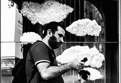 Head in the Clouds (Petricor Photography) Tags: street blackandwhite italy white black milan clouds photography candid milano dreaming dreams and canonpersonalconnection