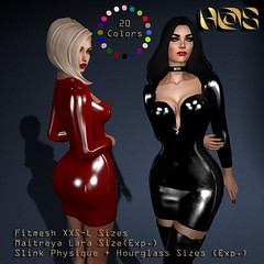 H@S Sexy Dress (Nadja33 Resident) Tags: hs latex fitmesh maitreya slink hourglass physique