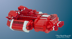 """The Red Roach"" - Urgavoon - Rear Left (rt_bricks) Tags: lego spaceship moc afol microscale microspaceship"
