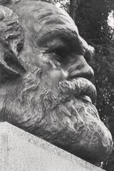 On your Marx... (tatzlum.photo) Tags: sculpture cemetery grave 50mm memorial communist communism bust marx karl highgate