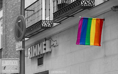 Madrid (Luciana Paoloni) Tags: madrid street gay espaa streetart spain colours pride rimmel chuca flaggay